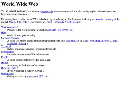 The World Wide Web project (20130430)
