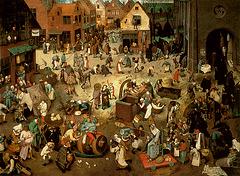 P. Bruegel l'Ancien, Combat de Carnaval et Carême