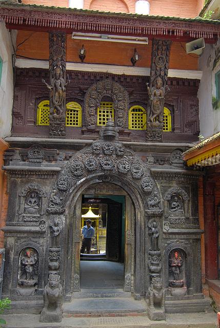 Entrance into the Hiranya Varna Mahaa Vihar Temple Patan