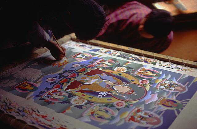 Thanka painting in Thimphu