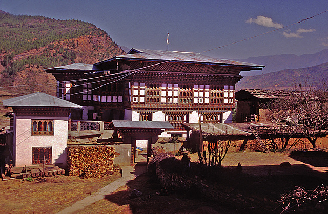 Our hosts farmhouse in the Paro valley