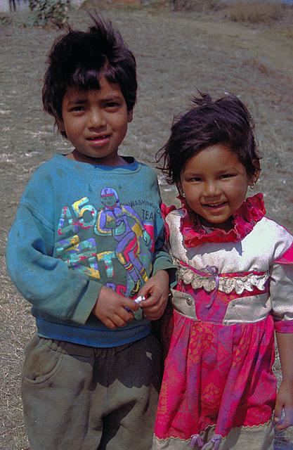 Kids in Wangdue Phodrang
