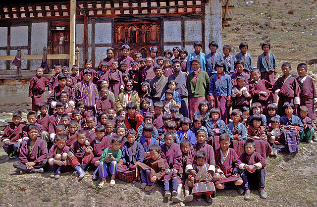 Pupils of the Genekha Primary School