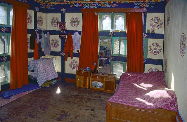 Bedroom inside the farmhouse