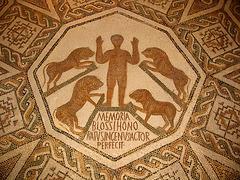 Mosaïque : Daniel dans la fosse aux lions