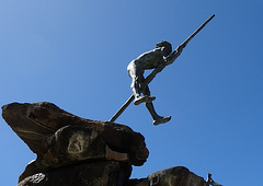 Skulptur auf einem Brunnen in Las Palmas