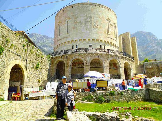 La renovigita kastelo de Skanderbeg