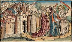 Sodome et Gomorrhe, œuvre de Hartmann Schedel