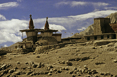 Chorten at Namgyal Gompa