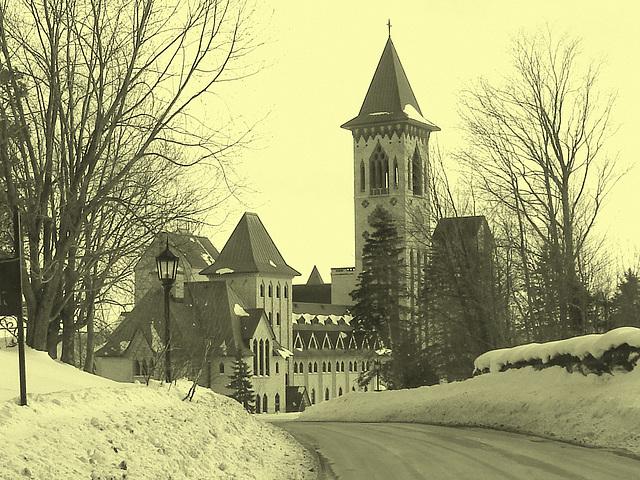 Abbaye / Abbey - St-Benoit-du-lac  /  Québec- CANADA - Février 2009 - Vintage close-up artwork