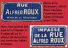 Voies au nom d'Alfred Roux à La Chaume