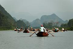 Boats near the Parfume Pagoda