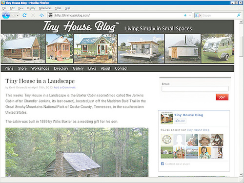 Webseite Tiny House Blog