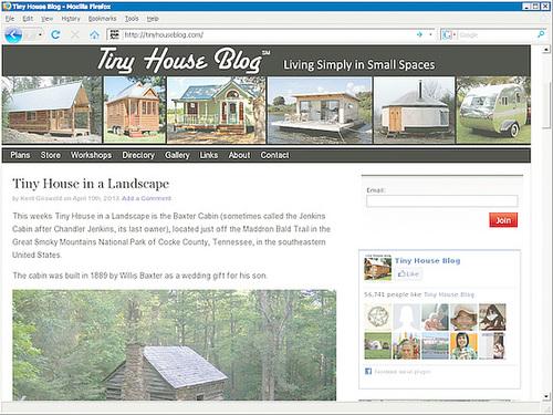 Webseite Tiny House Blog