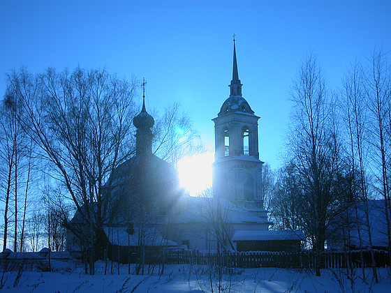 Kloster im Winter