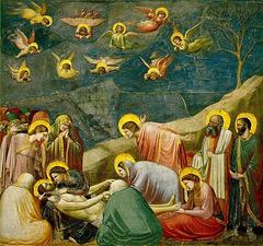 Samedi Saint : Lamentations sur le Christ, œuvre de Giotto di Bondone (1267-1337)