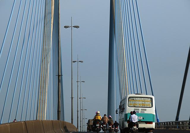 Hängebrücke Mekong