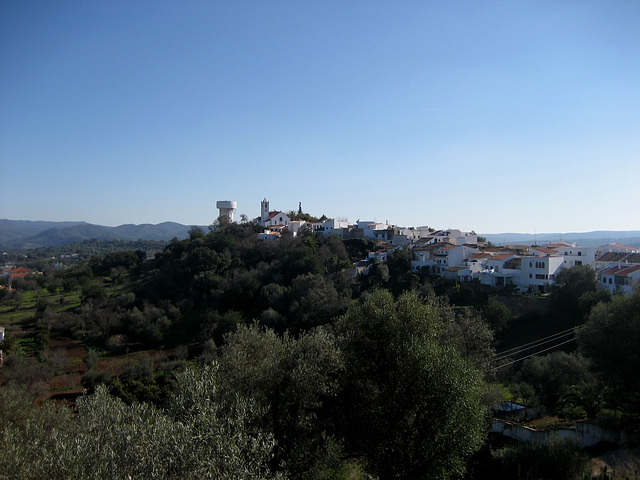 Algarve, view from the Salir castle