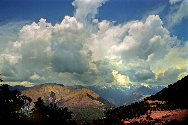 Panoramaview at Trongsa district