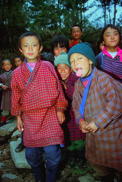 Children in Nga Lhakhang