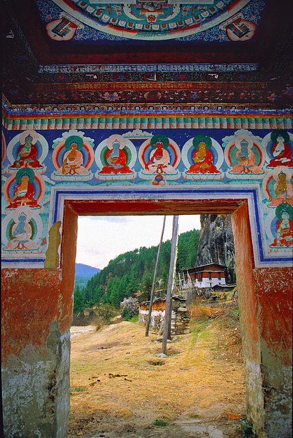 View out the chorten