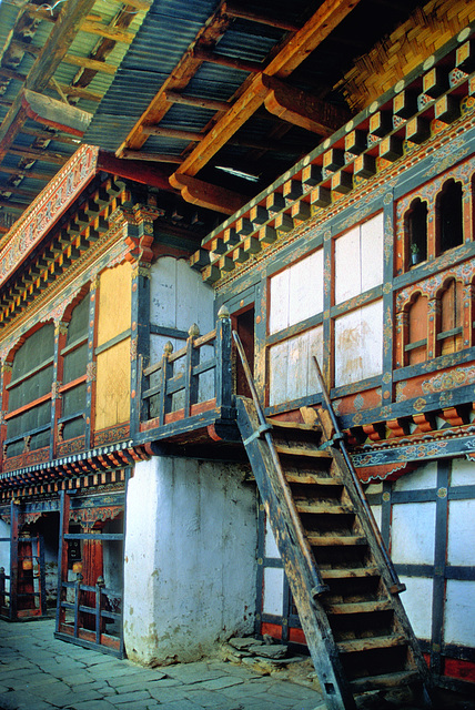 Inside the Jampey Lhakhang monastery