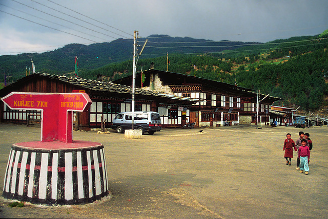 An intersection in Jakar
