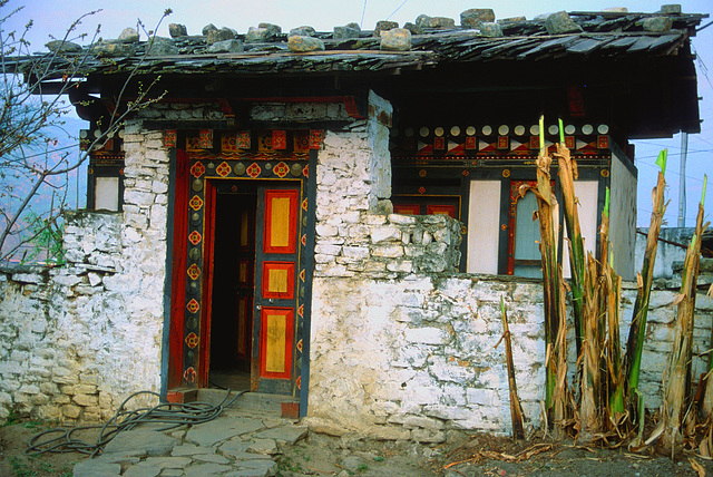 Monks home at the Kyichu Lhakhang Monastery