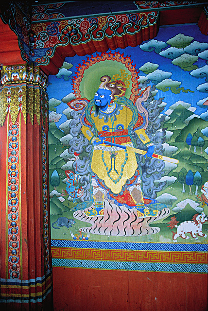 Wall painting inside the chorten