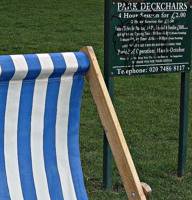 Park deckchairs
