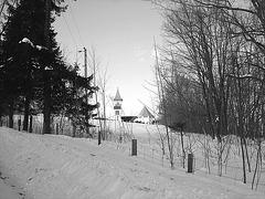 Abbaye St-Benoit-du-lac  /   St-Benoit-du-lac  Abbey -  Quebec, CANADA  / 6 février 2009  - B & W