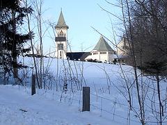 Abbaye St-Benoit-du-lac  / St-Benoit-du-lac  Abbey - Québec,CANADA / 6 février 2009 - Recadrage