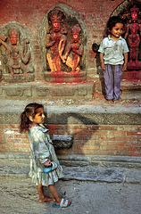 A comon scene in Pashupatinath