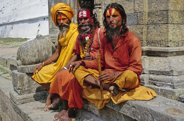 Three Sadhus for photo shooting