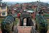 Guards at the Uma Maheshwor Temple in Kirtipur