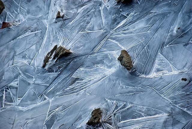 Stones in ice......