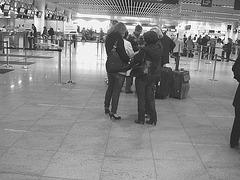 First class and première Quintet -  Brussels airport -19-10-2008- Black & white