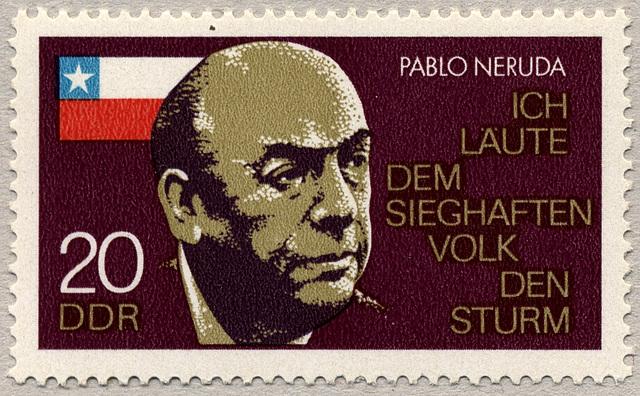 Le poète chilien Pablo Neruda [1904-1973]