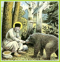 L'ours ne croquera pas saint Seraphim de Sarov
