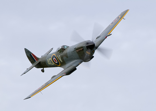 Spitfire Mk XVI with 'clipped' wingtips