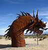 Ricardo Breceda's Dragon sculpture in Galleta Meadows Estate (4498)