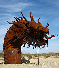Ricardo Breceda's Dragon sculpture in Galleta Meadows Estate (4505)