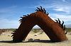 Ricardo Breceda's Dragon sculpture in Galleta Meadows Estate (4506)
