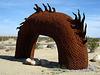 Ricardo Breceda's Dragon sculpture in Galleta Meadows Estate (4507)