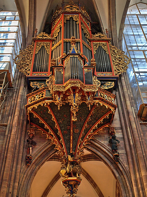 P9284658ac Strasbourg Cathedral Swallow Nest Shaped Grand Organ
