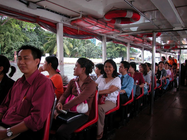 In an expressboat on the Chao Phraya River