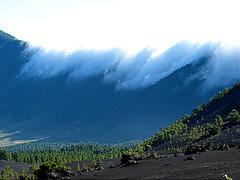 Schauspiel Passatwolken auf La Palma