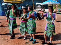 Marriage able Hmong women wait for potential men