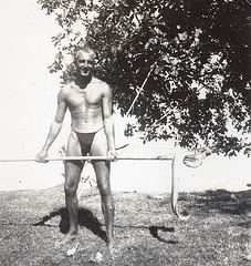 Very handsome man in a thong? 1950'