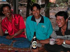 Thai men in good mood